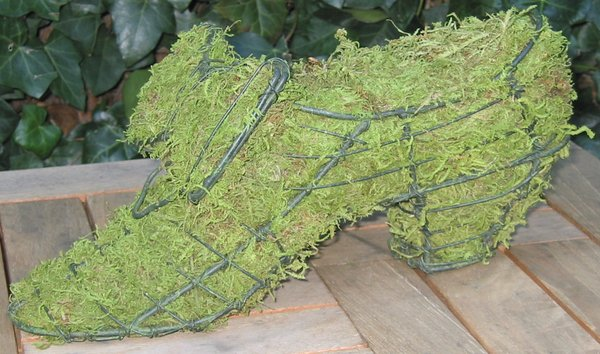 Topiary Shoe With Moss Filling