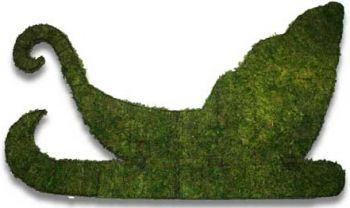 Topiary Sleigh wall mounted With Moss Filling