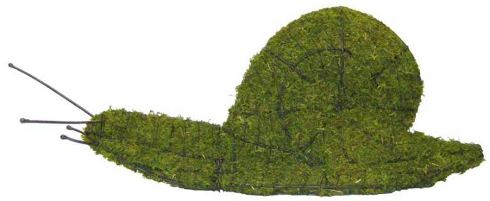 Topiary Snail With Moss Filling