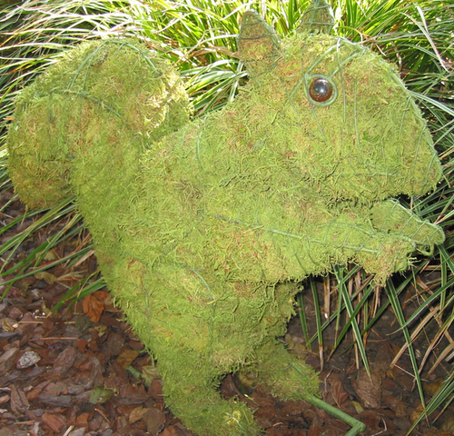 Topiary Squirrel With Moss Filling