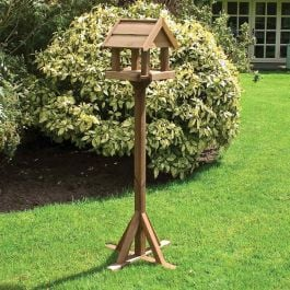 H1.58m (5ft 2in) Bisley Wooden Bird Table FSC® by Rowlinson®