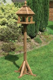 H1.72m (5ft 8in) Lechlade Wooden Bird Table FSC® by Rowlinson®