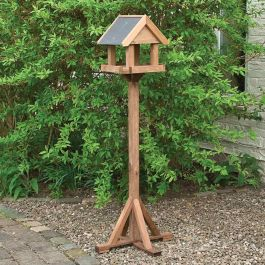 H1.58m (5ft 2in) Windrush Wooden Bird Table FSC® by Rowlinson®