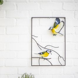 50cm x 35cm Tree Top Blue Tit Wall Art by La Hacienda™