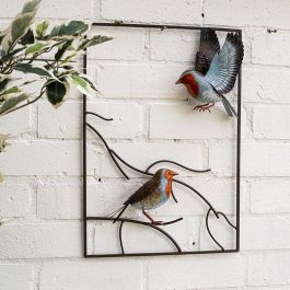 50cm x 35cm Tree Top Robin Wall Art by La Hacienda™