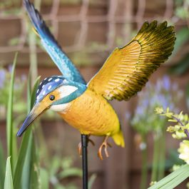 96cm x 25cm Kingfisher British Bird Stake by La Hacienda™