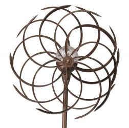 Smart Garden Spiro Wind Spinner with Solar Crackle Ball Dia 38cm
