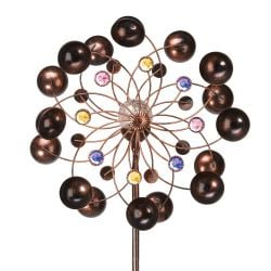 Smart Garden Venti Wind Spinner with Solar Crackle Ball Dia 38cm