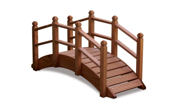 Small Oriental Timber Bridge