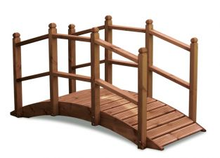 Large Oriental Timber Bridge