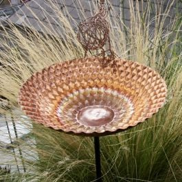 Dia 25cm Honeycomb Copper Chalice Sculpture On 1m Pole