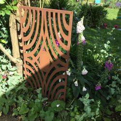 Aztec Rusty Outdoor Wall Panel (6ft x 3ft)