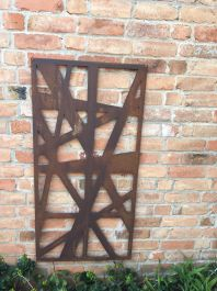 Messy rusty Outdoor Wall Panel (6ft x 3ft)