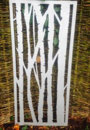 Silver Birch Rusty Outdoor Wall Panel (6ft x 3ft)