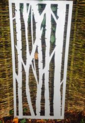 Silver Birch Rusty Outdoor Wall Panel (6ft x 4ft)