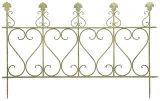 Green Aged Metal Fence - 78cm (2ft 6in)