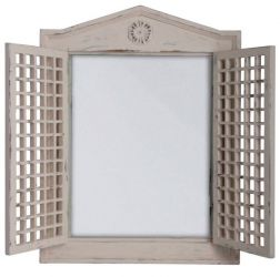 2ft x 1ft 6in Shabby Chic Mirror with Lattice Doors