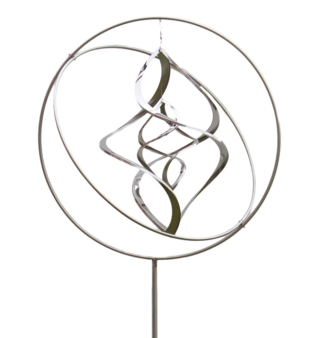 Stainless Steel Gyroscope Nova Hanging Wind Spinner