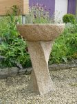 Foras Hammered Twist Birdbath - Forest Brown