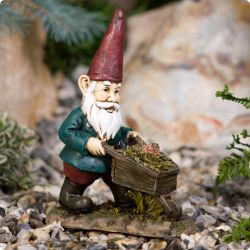 Mini Wheelbarrow Garden Gnome