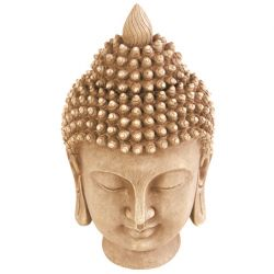 Stonetouch Buddha Head Garden Ornament