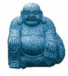 Happy Buddha Garden Ornament - Grey Granite