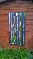 2ft x 4ft Silver Birch Wall Panel Garden Mirror