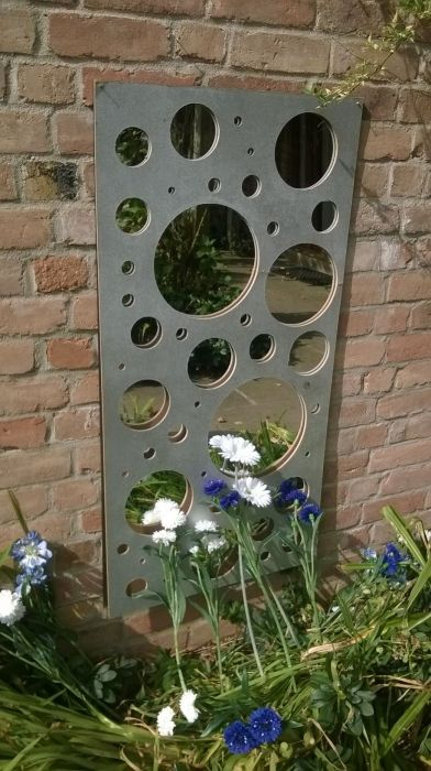 2ft x 4ft Bubbles Wall Panel Garden Mirror
