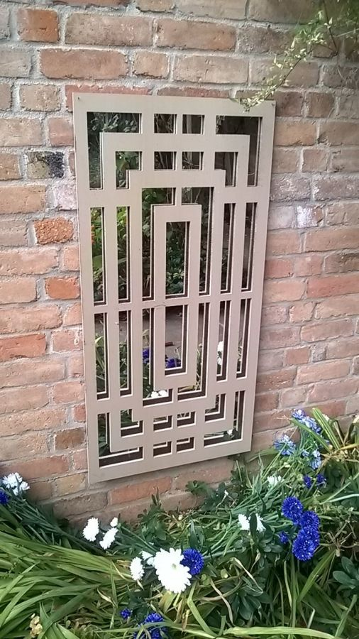 2ft x 4ft Box Maze Wall Panel Garden Mirror
