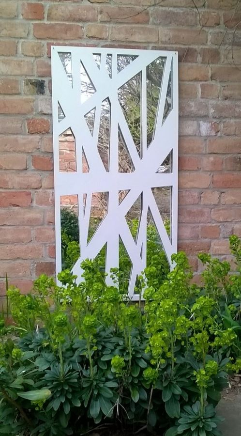 2ft x 4ft Messy Decorative Wall Panel Garden Mirror