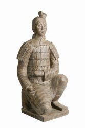Stonetouch Large Stone Effect Kneeling Soldier H68cm