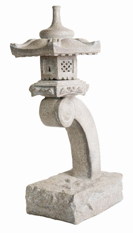 Stone Effect Oriental Cantilevered Lantern H62cm