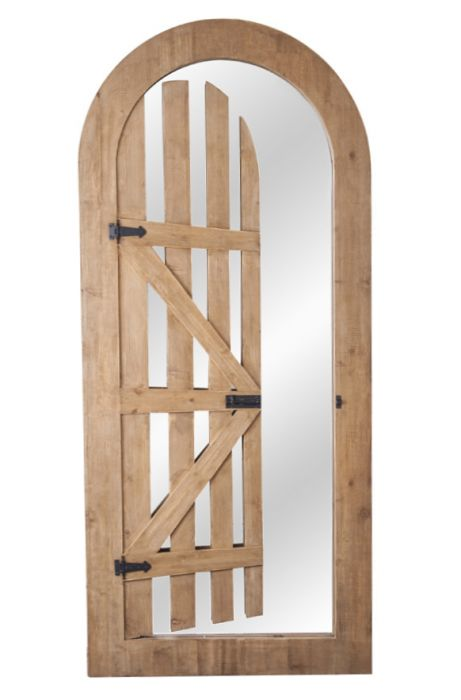 5ft 11in x 2ft 7in Arched Illusion Glass Mirror Gate - by Reflect™