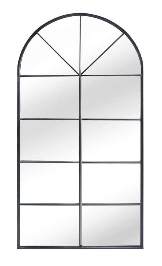 4ft 5in x 2ft 3in Metal Arch Glass Garden Mirror - by Reflect™