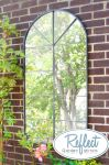 4ft 5in x 2ft 3in Metal Arch Glass Garden Mirror - by Reflect�