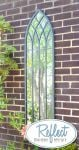 4ft 7in x 1ft 3in Metal Gothic Glass Garden Mirror - by Reflect�