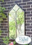 3ft 3in x 1ft 8in Metal Renaissance Peaked Glass Garden Mirror - by Reflect™