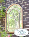 2ft 11 x 2ft Wooden Gothic Illusion Glass Garden Mirror - by Reflect�