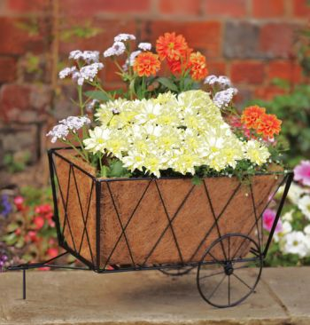 Smart Garden Metal Hay Cart Planter