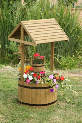 1m Wooden Smart Garden Woodland Wishing Well