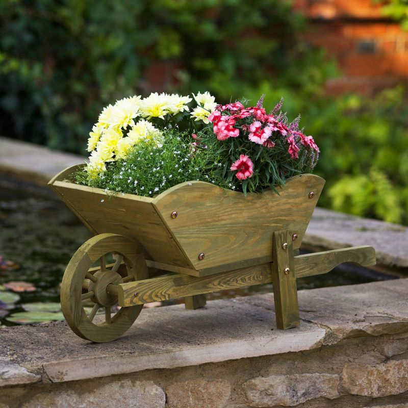 Smart Garden Rustic Tan Woodland Wheelbarrow 163 16 99