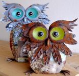 Buffy Owl Large Garden Ornament