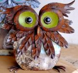 Buffy Owl Small Garden Ornament