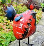 Red Rooster Small Garden Ornament