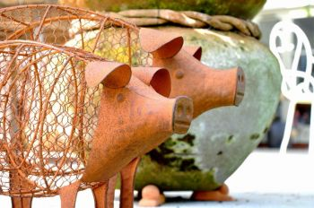 Pig Planter Large Garden Ornament