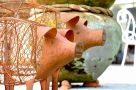 Pig Planter Small Garden Ornament