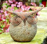 Wise Owl Small Garden Ornament