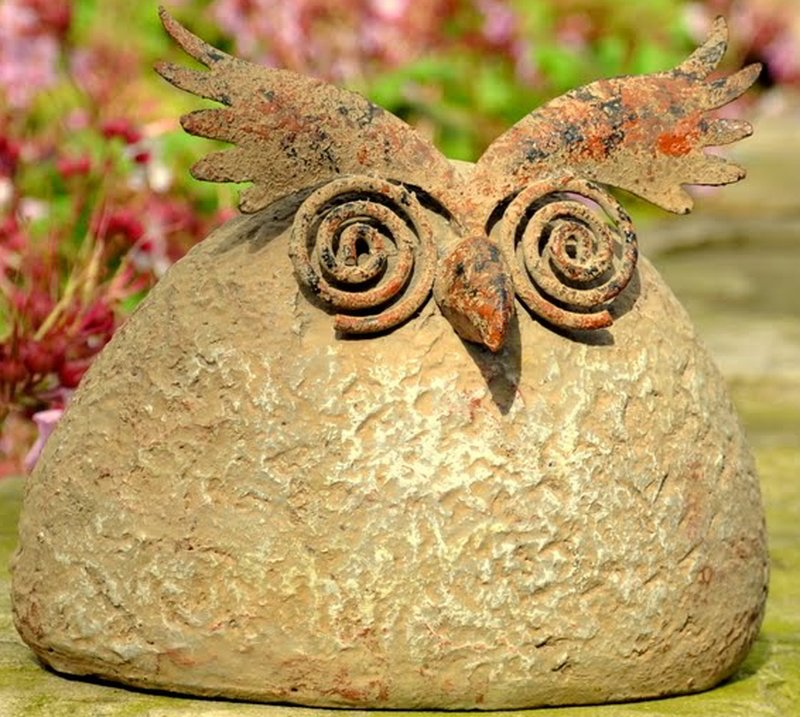 BushyOwl Small Garden Ornament