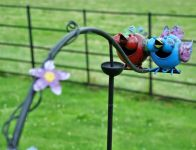 Laughing Kingfishers Garden Ornament