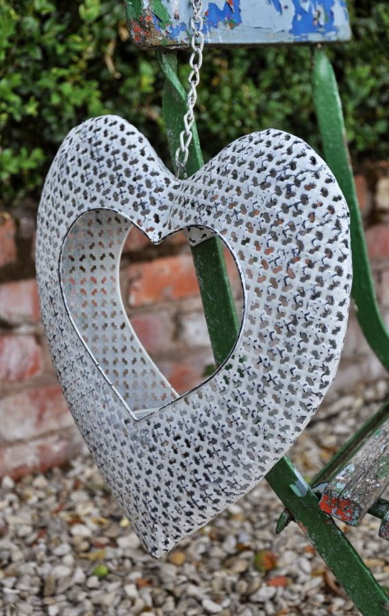 Monastery Hanging Heart Candleholder Medium Garden Ornament